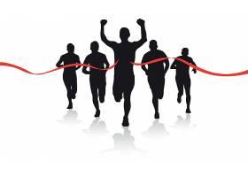 人物跑步冲线主题时尚矢量素材装饰素材