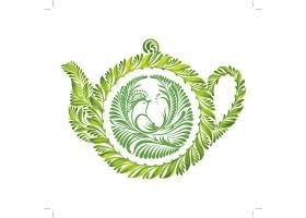 绿色植物茶壶图案主题时尚矢量素材装饰素材