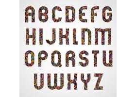 彩色字母设计