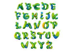 绿色字母设计