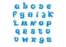 创意蓝色个性字母字体样式设计