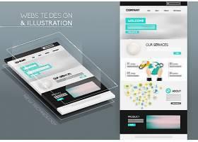 创意直观的时尚现代网页模板展示