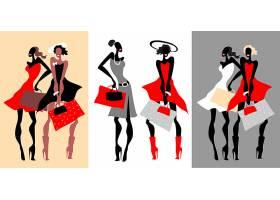 购物的现代时尚女性