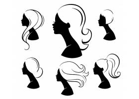 美容美业简洁时尚女性侧脸角色插画设计