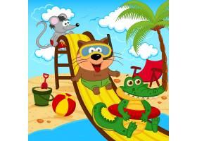 卡通动物形象儿童风格装饰插画设计