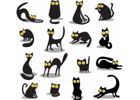 黑色猫咪儿童卡通动物形象