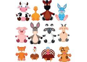 多款家禽家畜儿童卡通形象