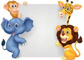 大象猴子狮子长颈鹿儿童卡通形象