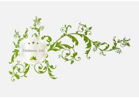 植物花卉元素标签花纹装饰插画设计