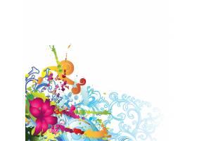 时尚个性植物花卉元素装饰标签插画设计