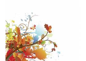 时尚个性秋季植物果实元素装饰标签插画设计