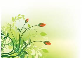 绿色植物花卉装饰背景