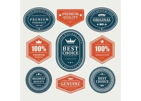 单色简洁的欧式商品标签设计