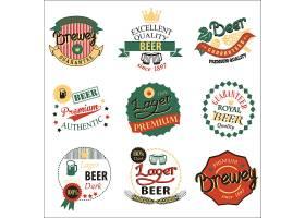 创意个性啤酒小麦啤酒花主题标签设计