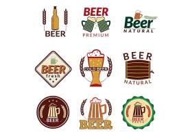 创意个性啤酒小麦主题标签设计