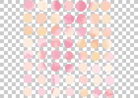 水彩心,线路,花瓣,纺织品,桃子,心,水彩画,波尔卡点,圆,主题,粉红