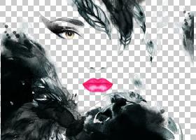 时尚抽象背景,黑白,专辑封面,黑发,抽象艺术,海报,壁画,绘画,肖像
