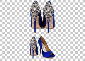 鞋子卡通,基本泵,电蓝,高跟鞋,钴蓝,新娘,着装,婚礼,婚纱,鞋类,凉