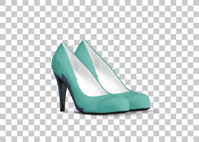 鞋子卡通,步行鞋,新娘鞋,绿松石,基本泵,高跟鞋,水,鞋类,婚纱,利