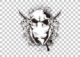 颅骨剪贴画,首饰,视觉艺术,黑白,艺术品,头骨,阿凡达,T恤,