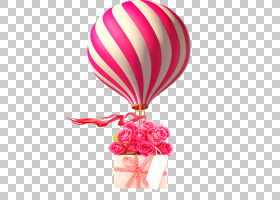 热气球,洋红色,粉红色,计算机动画,孩子,3D计算机图形学,海报,情