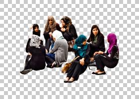 穆斯林卡通,坐着,沟通,谢丽娜・扎赫拉・詹莫哈德,女人,卡菲尔,穆