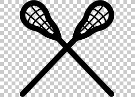 长曲棍球棒网球拍,黑白,线路,网球拍,校队,球拍,团队运动,长曲棍图片