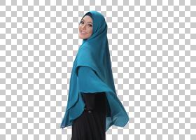 穆斯林卡通,颈部,套筒,电蓝,水,绿松石,蓝色,伊斯兰教中的妇女,巴