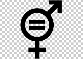 黑色日符号,黑白,线路,性别不平等,女权主义,国际妇女节,等号,性