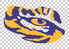 足球卡通,黄色,电蓝,路易斯安那州立大学老虎和女士老虎,体育,老