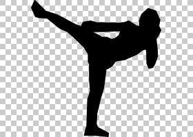 跆拳道卡通,黑白,手臂,手,线路,膝盖,鞋,关节,体质,角度,剪影,平