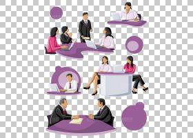 桌面卡通,家具,对话,专业,表,公共关系,紫色,坐着,业务,组织,绘图