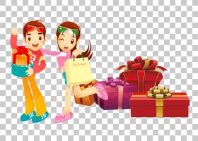 卡通圣诞节,假日,圣诞节,食物,玩具,播放,男人,动画,女人,购物,卡图片