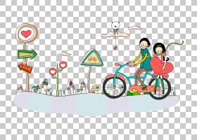 爱情背景,线路,坠入爱河,体育,自行车旅游,爱,漫画,卡通,浪漫,自图片