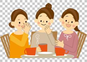 友谊卡通,友谊,男性,专业,母亲,对话,男孩,烹饪,手,食物,吃饭,微图片