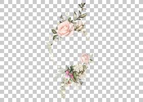 鲜花婚礼请柬水彩,细枝,发饰,婚礼仪式用品,装饰,人造花,花园玫瑰