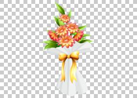 粉红色花卡通,插花,花盆,花瓣,植物,花卉,百合,生日,粉红色的花,