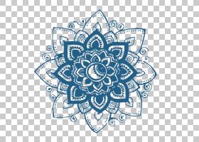 蓝花,圆,创意艺术,线路,纺织品,绘图,材质,面积,对称性,花,视觉艺