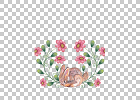 粉红色花卡通,插花,花卉,花瓣,植物群,植物,粉红色,动物,春天,安