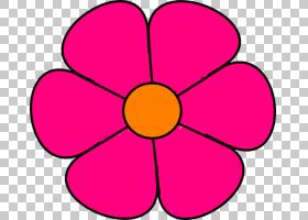 粉红色花卡通,红色,圆,点,黄色,线路,切花,花瓣,紫色,面积,对称性