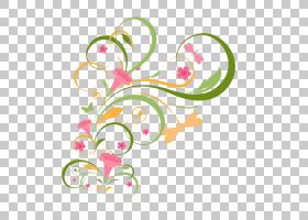 粉红色花卡通,花卉,植物群,线路,插花,圆,分支,叶,粉红色,花瓣,心