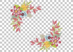 粉红色花卡通,花束,插花,分支,花卉,花瓣,叶,植物群,植物,蓝色,切