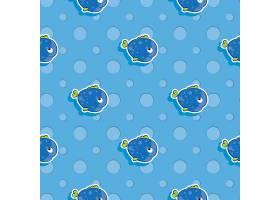 卡通儿童海洋元素无缝装饰背景