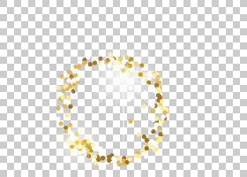 金色闪光圆形颗粒金色颗粒免扣素材