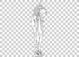 卡通动物形象拟人形时尚潮流插画免扣素材