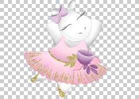 卡通动物形象拟人形芭蕾舞主题插画免扣素材
