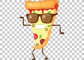 披萨Q版食物类卡通形象免扣素材