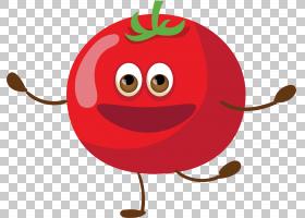 西红柿Q版食物类卡通形象免扣素材