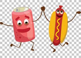 可乐热狗Q版食物类卡通形象免扣素材