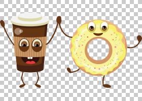 甜甜圈Q版食物类卡通形象免扣素材